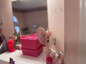 pink bathroom after